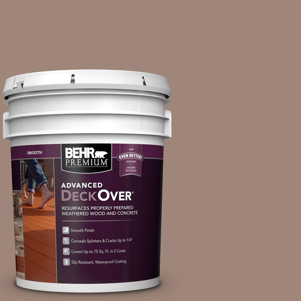 5 gal. #SC-160 Rose Beige Smooth Solid Color Exterior Wood and Concrete Coating