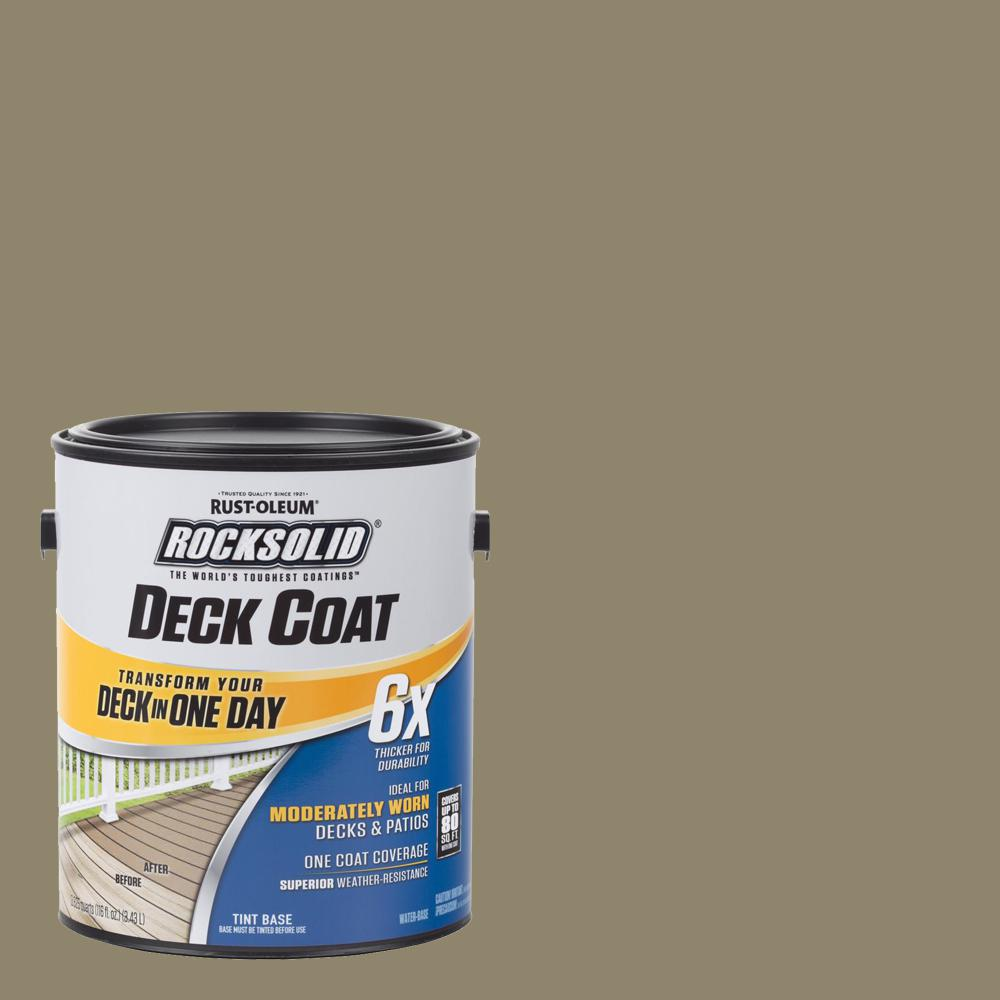 1 gal. River Rock Exterior 6X Deck Coat