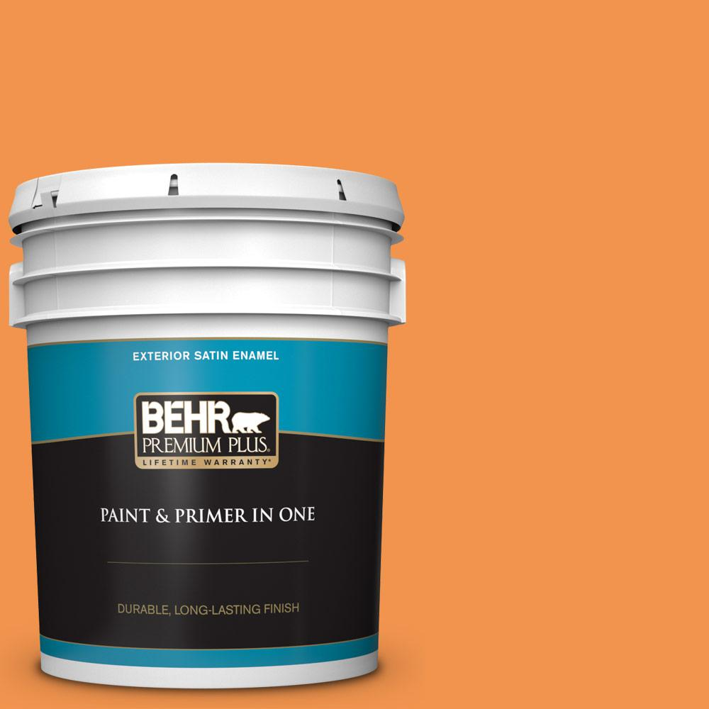 5 gal. #P230-6 Toucan Satin Enamel Exterior Paint and Primer in One