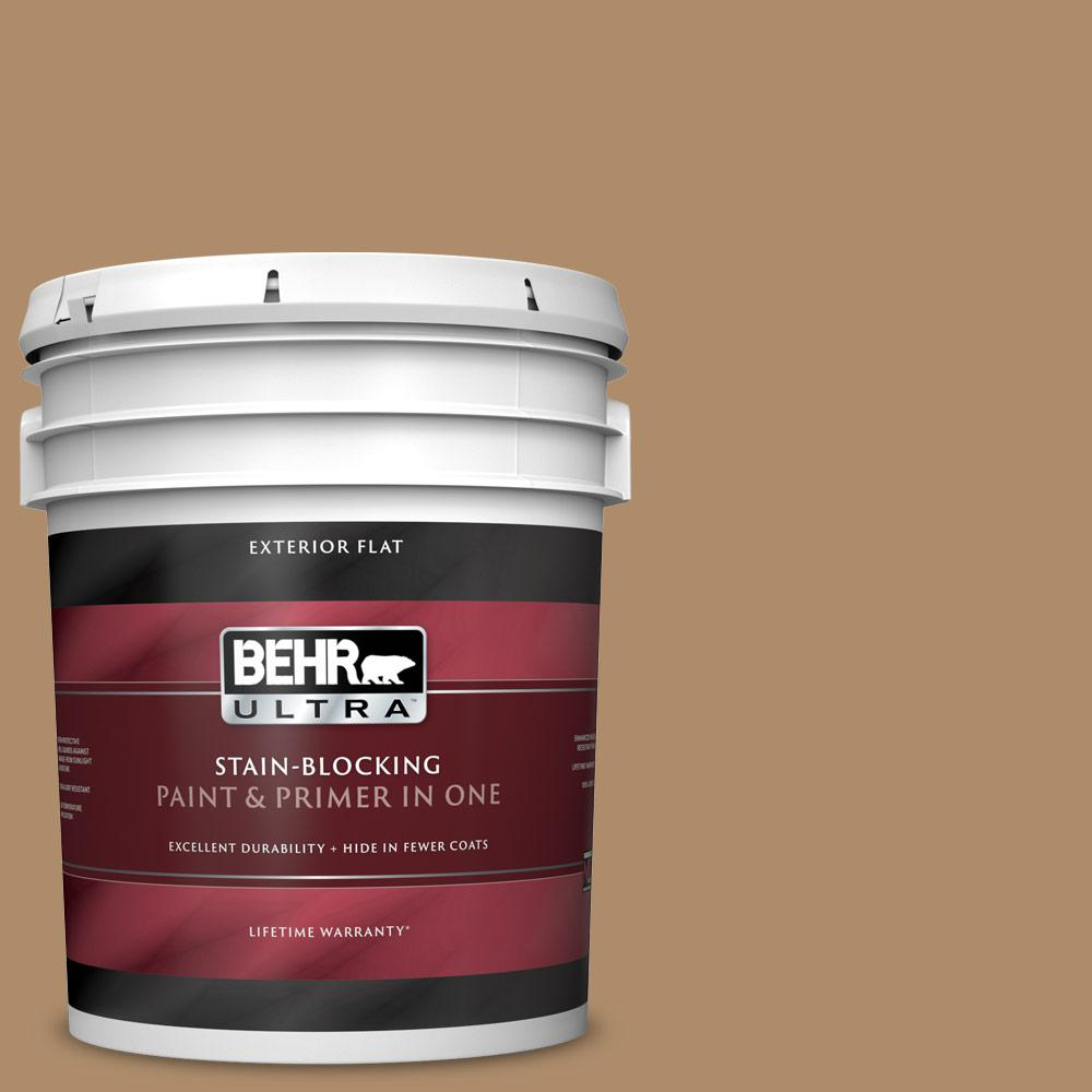 5 gal. #N270-5 River Road Flat Exterior Paint and Primer in One
