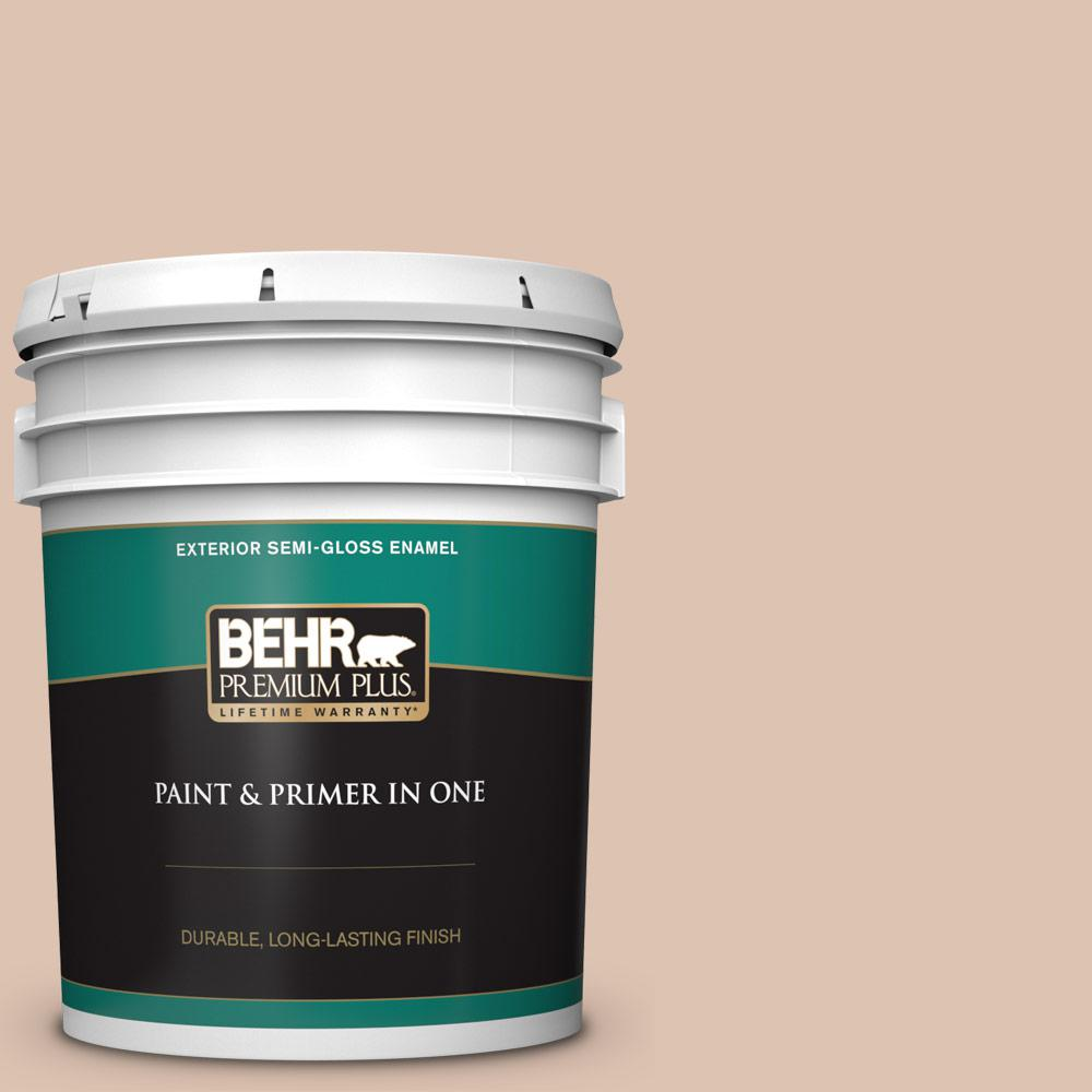 5 gal. #N250-2A Bali Sand Semi-Gloss Enamel Exterior Paint and Primer in One