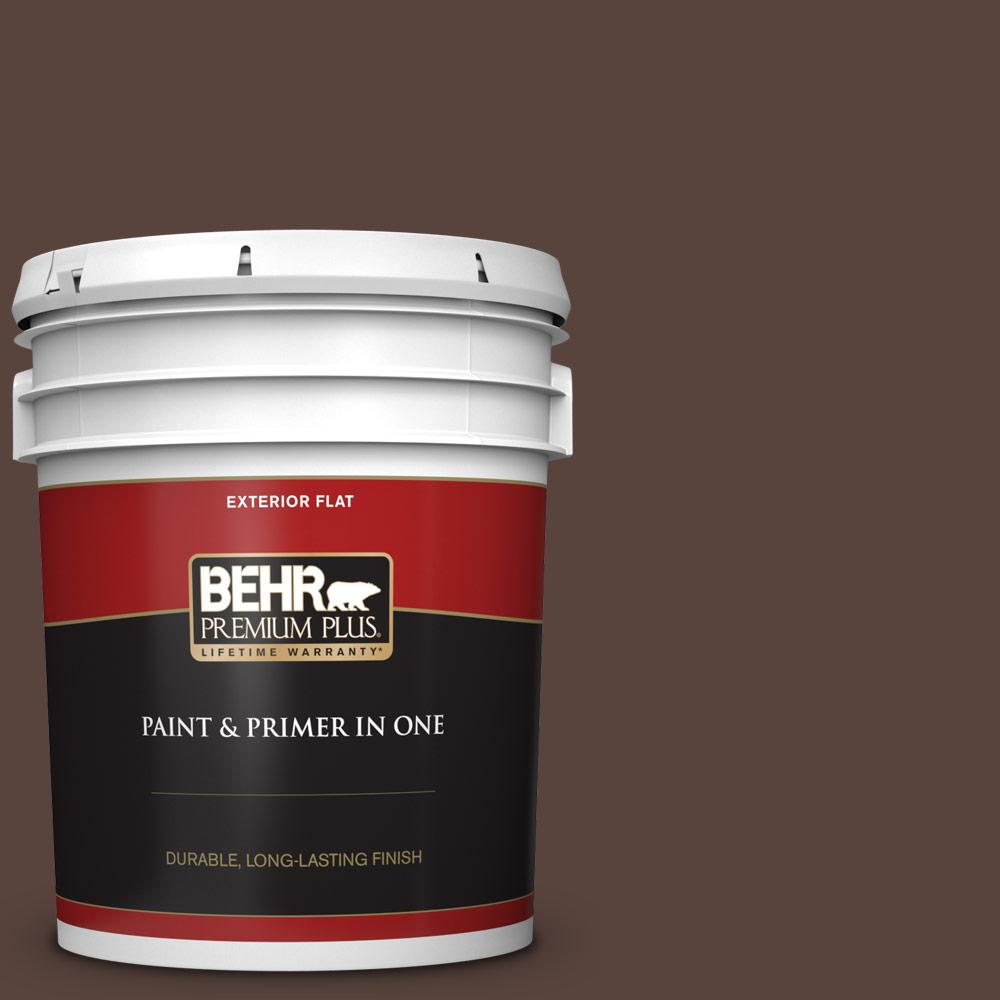 5 gal. #S-G-790 Bear Rug Flat Exterior Paint and Primer in One