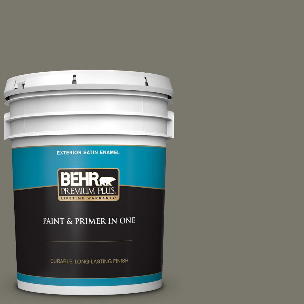 5 gal. #ECC-46-2 Eagle Ridge Satin Enamel Exterior Paint and Primer in One