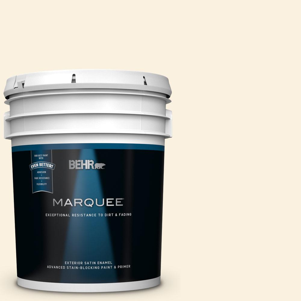 5 gal. #M290-1 Thickened Cream Satin Enamel Exterior Paint and Primer in One