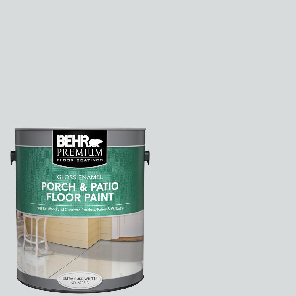 1 gal. #PPL-65 Silver Charm Gloss Enamel Interior/Exterior Porch and Patio Floor Paint