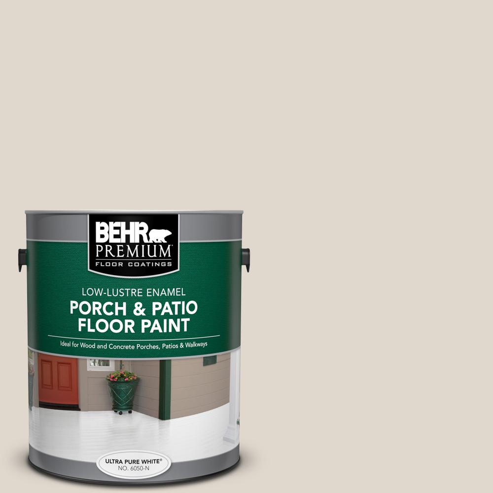 1 gal. #PFC-72 White Cloud Low-Lustre Enamel Interior/Exterior Porch and Patio Floor Paint