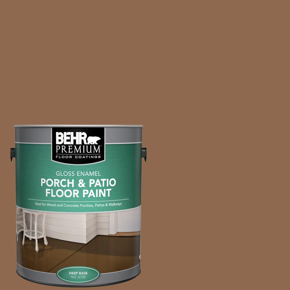 1 gal. #N250-6 Split Rail Gloss Enamel Interior/Exterior Porch and Patio Floor Paint