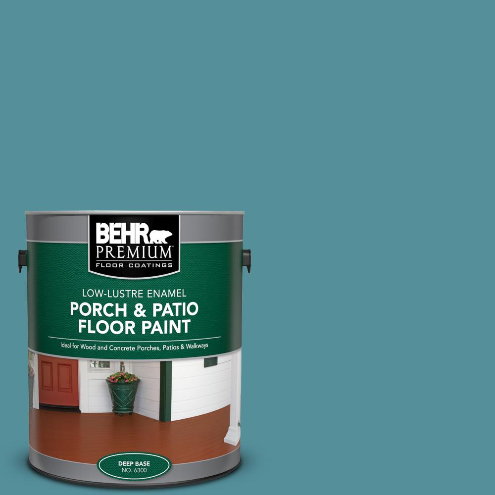 1 gal. Home Decorators Collection #HDC-AC-23A Cabana Blue Low-Lustre Enamel Int/Ext Porch and Patio Floor Paint