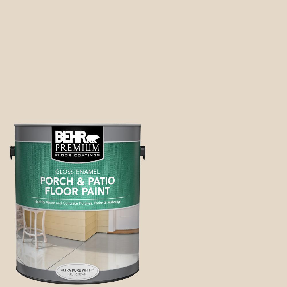 1 gal. #ECC-51-2 Sand Castle Gloss Enamel Interior/Exterior Porch and Patio Floor Paint