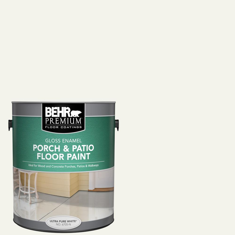 1 gal. #W-F-700 Moon Rise Gloss Enamel Interior/Exterior Porch and Patio Floor Paint