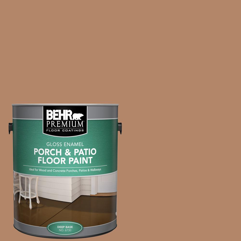 1 gal. #SC-158 Golden Beige Gloss Enamel Interior/Exterior Porch and Patio Floor Paint