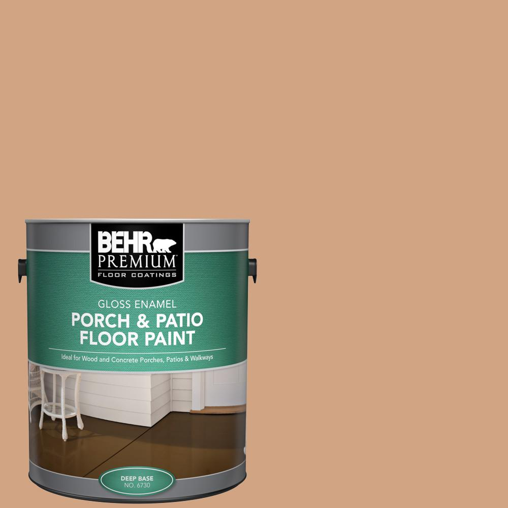 1 gal. #260F-4 Sunset Beige Gloss Enamel Interior/Exterior Porch and Patio Floor Paint