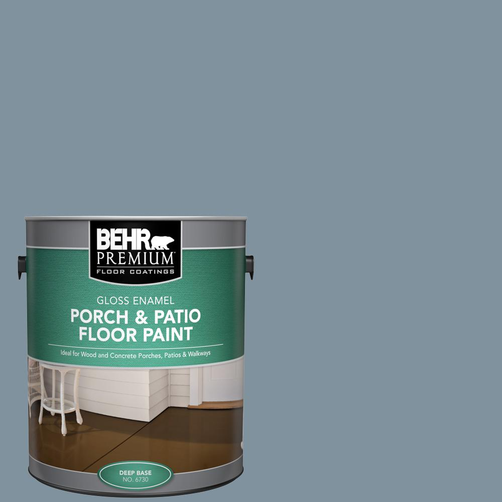 1 gal. #PFC-54 Blue Tundra Gloss Enamel Interior/Exterior Porch and Patio Floor Paint
