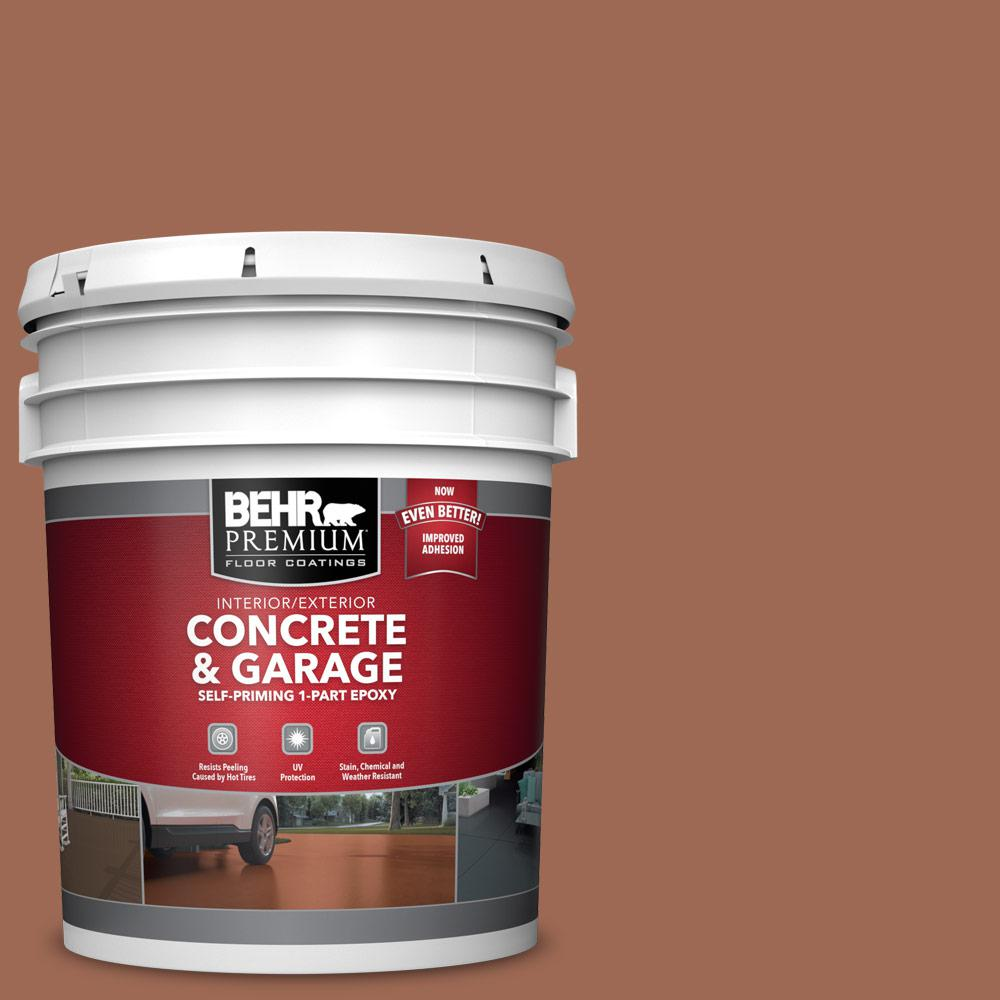 5 gal. #S180-6 Perfect Penny 1-Part Epoxy Satin Interior/Exterior Concrete and Garage Floor Paint