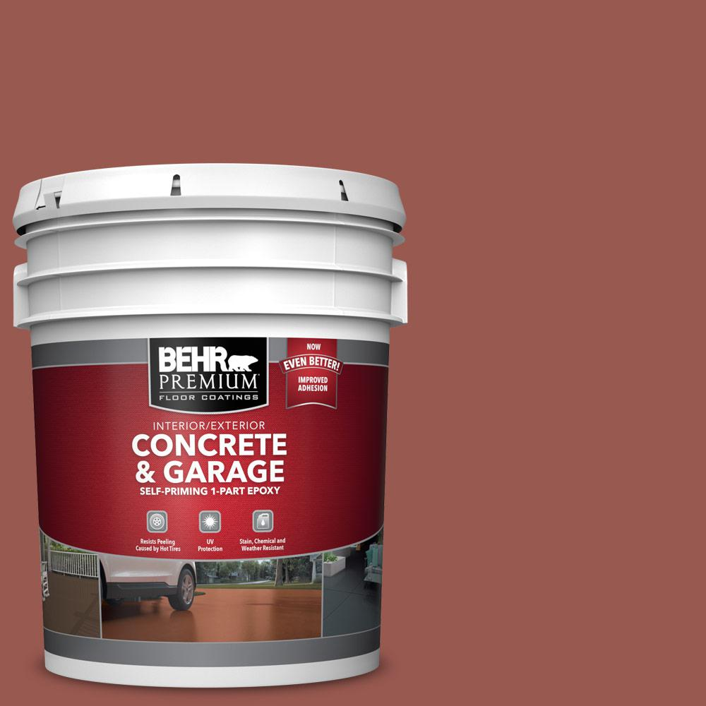 5 gal. #S160-6 Red Potato 1-Part Epoxy Satin Interior/Exterior Concrete and Garage Floor Paint