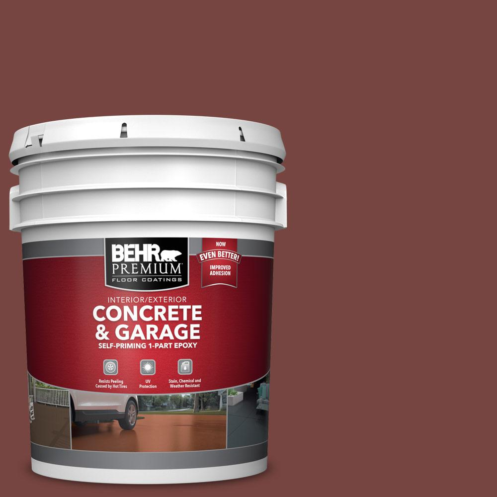 5 gal. #S190-7 Toasted Pecan 1-Part Epoxy Satin Interior/Exterior Concrete and Garage Floor Paint