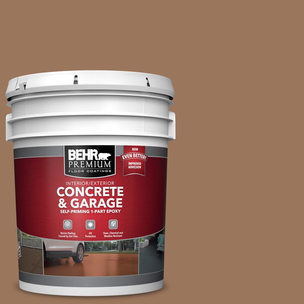 5 gal. #S220-6 Baked Sienna 1-Part Epoxy Satin Interior/Exterior Concrete and Garage Floor Paint