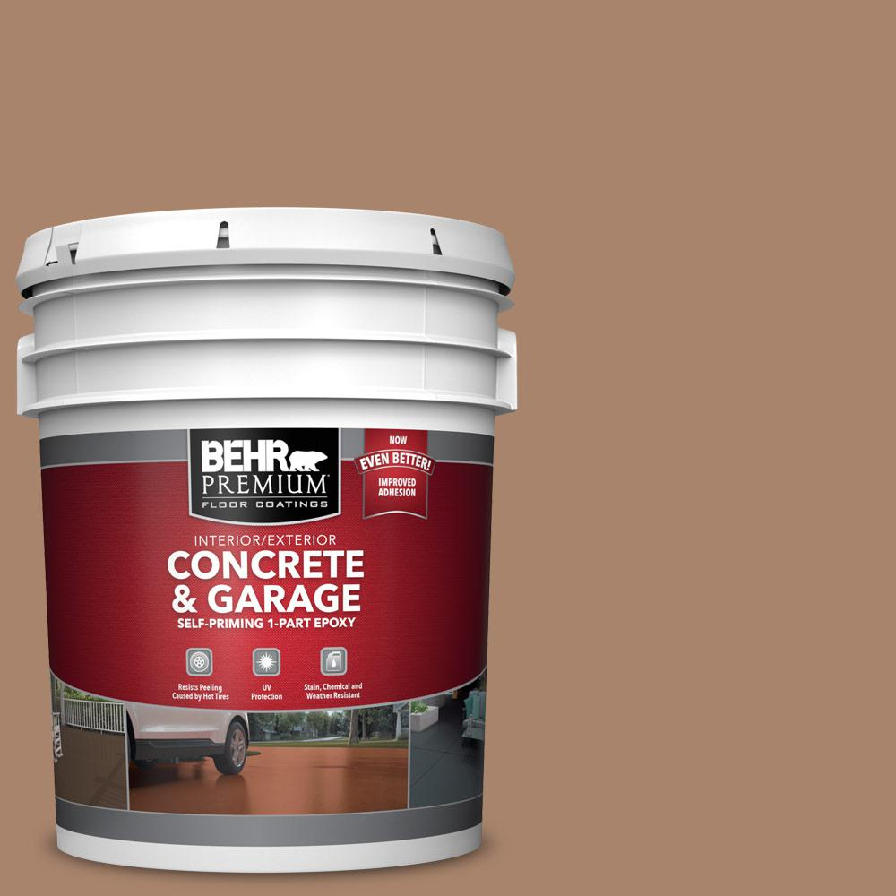 5 gal. #S220-5 Nutshell 1-Part Epoxy Satin Interior/Exterior Concrete and Garage Floor Paint