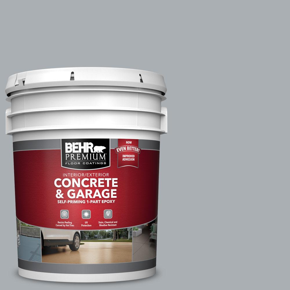 5 gal. #N500-3 Tin Foil 1-Part Epoxy Satin Interior/Exterior Concrete and Garage Floor Paint