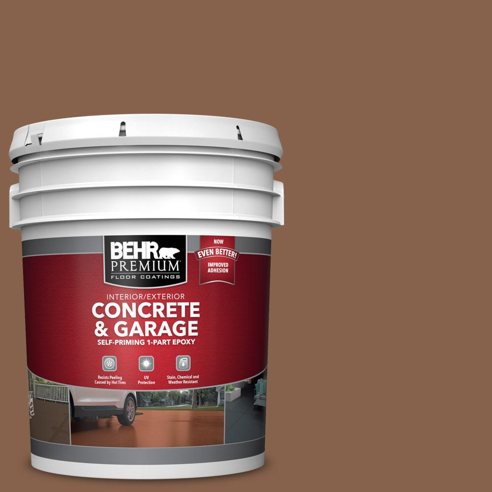 5 gal. #S220-7 Molasses 1-Part Epoxy Satin Interior/Exterior Concrete and Garage Floor Paint