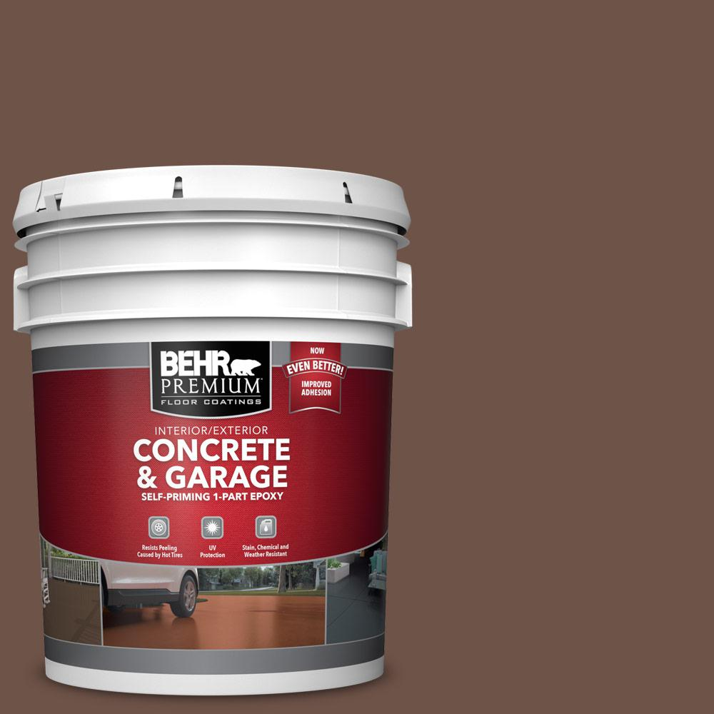 5 gal. #N230-7 Rustic Tobacco 1-Part Epoxy Satin Interior/Exterior Concrete and Garage Floor Paint