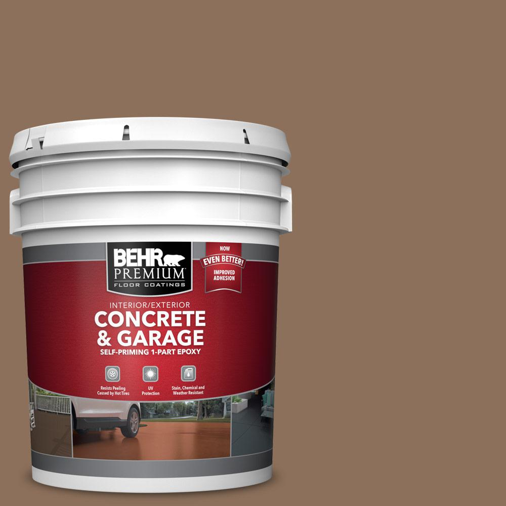 5 gal. #N240-6 Wild Mustang 1-Part Epoxy Satin Interior/Exterior Concrete and Garage Floor Paint