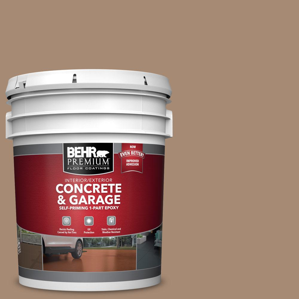 5 gal. #N240-5 Rodeo Tan 1-Part Epoxy Satin Interior/Exterior Concrete and Garage Floor Paint