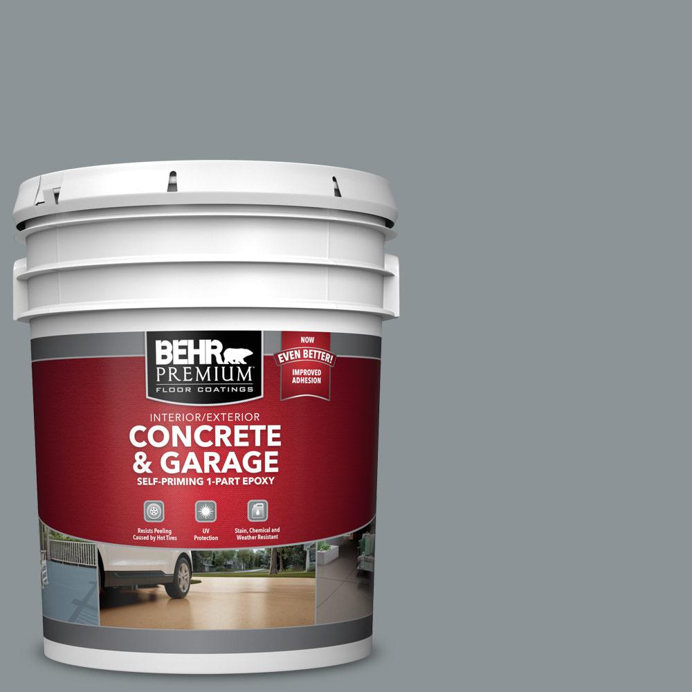 5 gal. #N450-4 Moonquake 1-Part Epoxy Satin Interior/Exterior Concrete and Garage Floor Paint