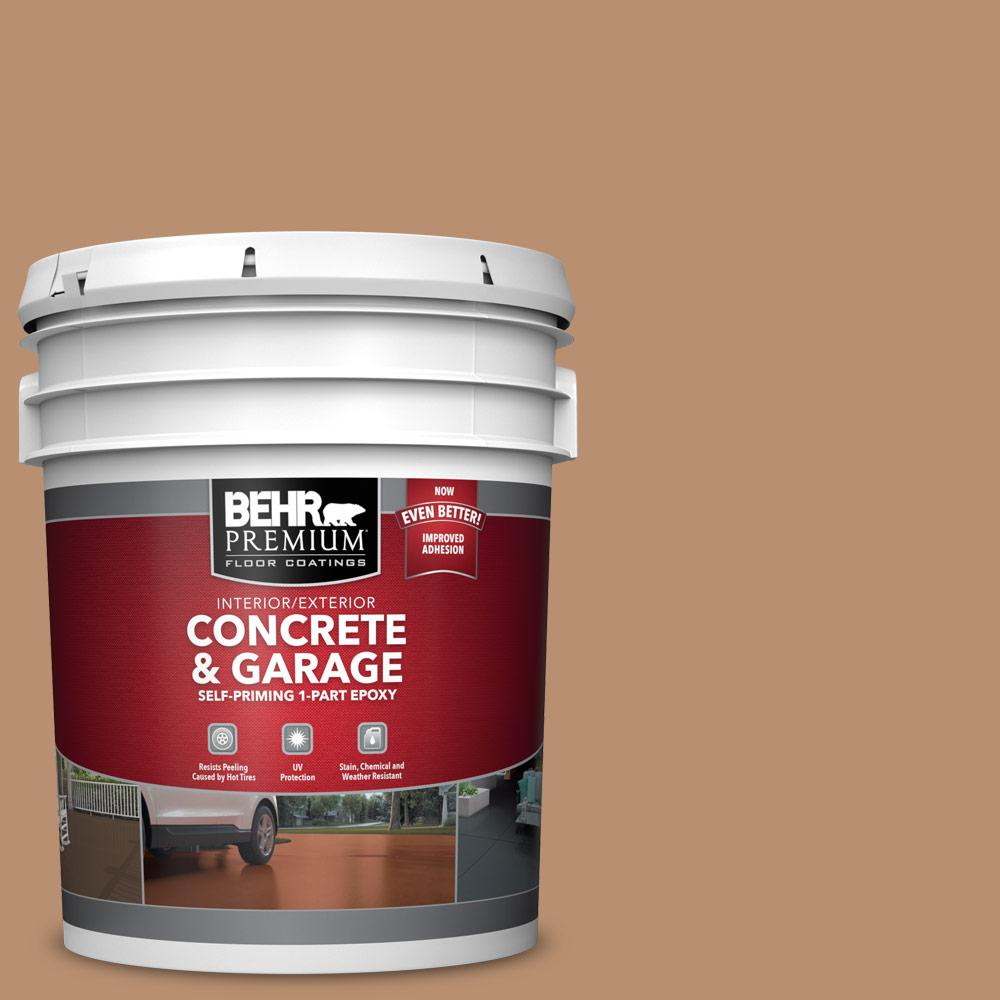 5 gal. #S230-5 Sugar Maple 1-Part Epoxy Satin Interior/Exterior Concrete and Garage Floor Paint